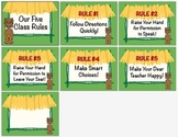 Five Class Rules /  Tiki Jungle Hut / Decorations