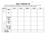 Whole Brain Teaching Homework Log for Upper Elementary