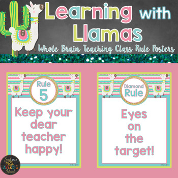 Whole Brain Teaching Llama Themed Class Rules