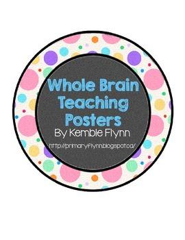 Whole Brain Teaching Multi Dots Polka Dot Circle Posters FREEBIES