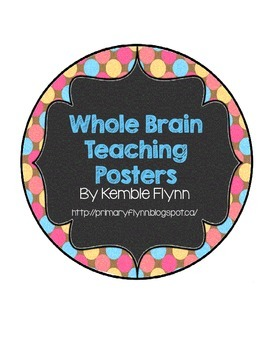Whole Brain Teaching Pastel Polka Dot Circle Squiggly Frame Posters