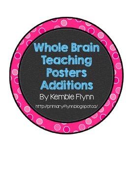 Whole Brain Teaching Polka Dot Circle Posters Additions FREEBIE
