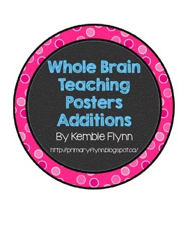 Whole Brain Teaching Polka Dot Circle Posters Additions FREEBIE