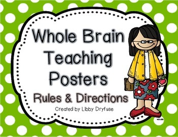 Whole Brain Teaching Posters {Bright Polka Dot}