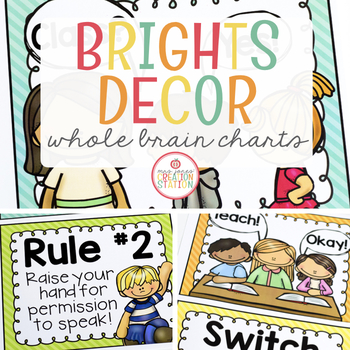 Whole Brain Teaching Posters {Brights Classroom Set}