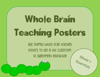 Whole Brain Teaching Posters - Bug Theme