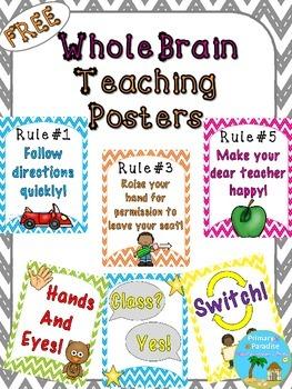 Whole Brain Teaching Posters {Freebie}