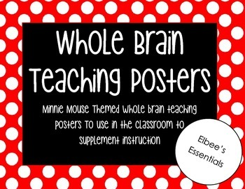 Whole Brain Teaching Posters - Minnie Mouse Theme