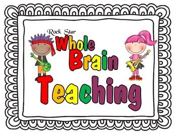 ***FREE*** Whole Brain Teaching Posters - Rock Star Style