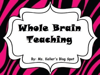Zebra Print Whole Brain Teaching Posters and Scoreboard