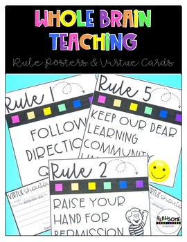 Whole Brain Teaching Posters and Virtue Cards
