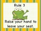 Whole Brain Teaching (Power Teaching) Rules- Frog Themed
