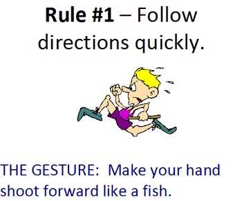 Whole Brain Teaching (Power Teaching) Rules for WALL includes GUFF sign