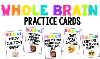 Whole Brain Teaching Practice Cards