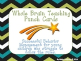 Whole Brain Teaching Punch Cards