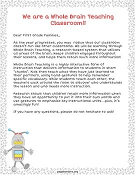 Whole Brain Teaching - Robot Theme
