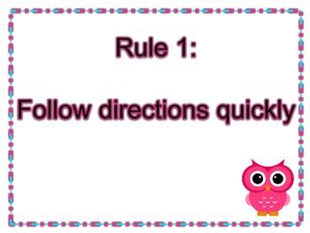 Whole Brain Teaching Rule Posters