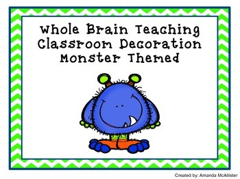 Whole Brain Teaching Rule Posters
