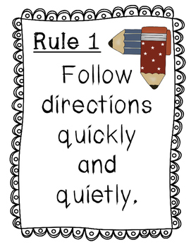 Whole Brain Teaching: Rule Posters