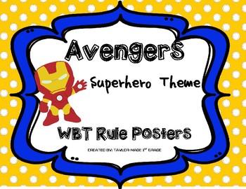 Whole Brain Teaching Rule Posters - Avengers / Superheroes