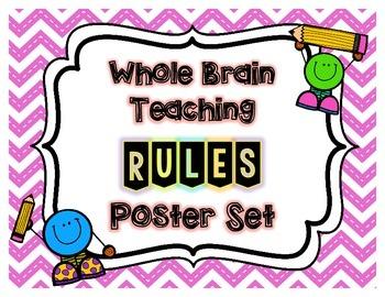 BRIGHT Chevron Whole Brain Teaching Rule Posters