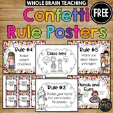 Whole Brain Teaching Rule Posters Rainbow Confetti Melonheadz Edition