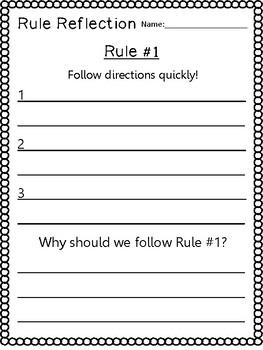 Whole Brain Teaching Rule Reflections