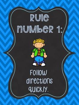 Whole Brain Teaching Rules Freebie