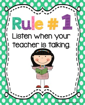 whole brain teaching rules adapted freebie by miss. Black Bedroom Furniture Sets. Home Design Ideas