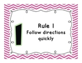 Whole Brain Teaching Rules Adapted