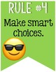 Whole Brain Teaching Rules Banner with Emojis