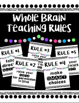 Whole Brain Teaching Rules *Black/white/glitter/color*