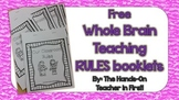 Whole Brain Teaching Rules Booklets FREE