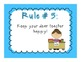 Whole Brain Teaching Rules {Bright Colors & Polka Dot Themed}
