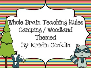 Whole Brain Teaching Rules Camping Themed