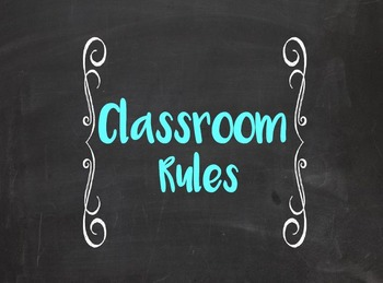 Whole Brain Teaching Rules- Chalkboard (Print and Cursive