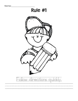 Whole Brain Teaching Rules Coloring Pages
