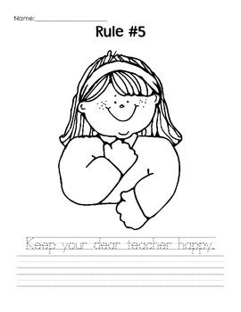 Whole Brain Teaching - Rules Coloring Pages