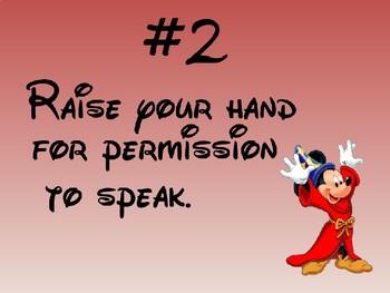 Whole Brain Teaching Rules Disney Sorcerer Mickey