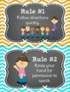 Whole Brain Teaching Rules FREEBIE in Chalkboard Theme