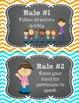 Whole Brain Teaching Rules FREEBIE in Chalkboard Theme
