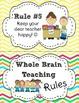 Whole Brain Teaching Rules FREEBIE in Chevron Print