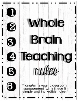 Whole Brain Teaching Rules : Industrial Chic