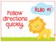 Whole Brain Teaching Rules: Jungle Theme