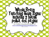 Whole Brain Teaching Rules Lime Polka Dots