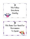 Whole Brain Teaching Rules- Owl Theme