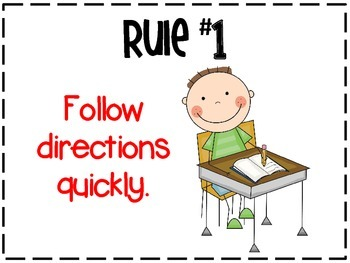 Whole Brain Teaching Rules Poster Set