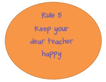 Whole Brain Teaching Rules Poster set Colorful