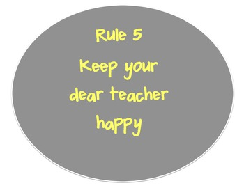 Whole Brain Teaching Rules Poster set in Grey and Yellow