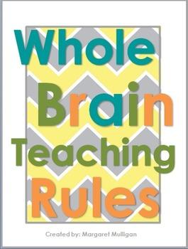 Whole Brain Teaching Posters - Chevron